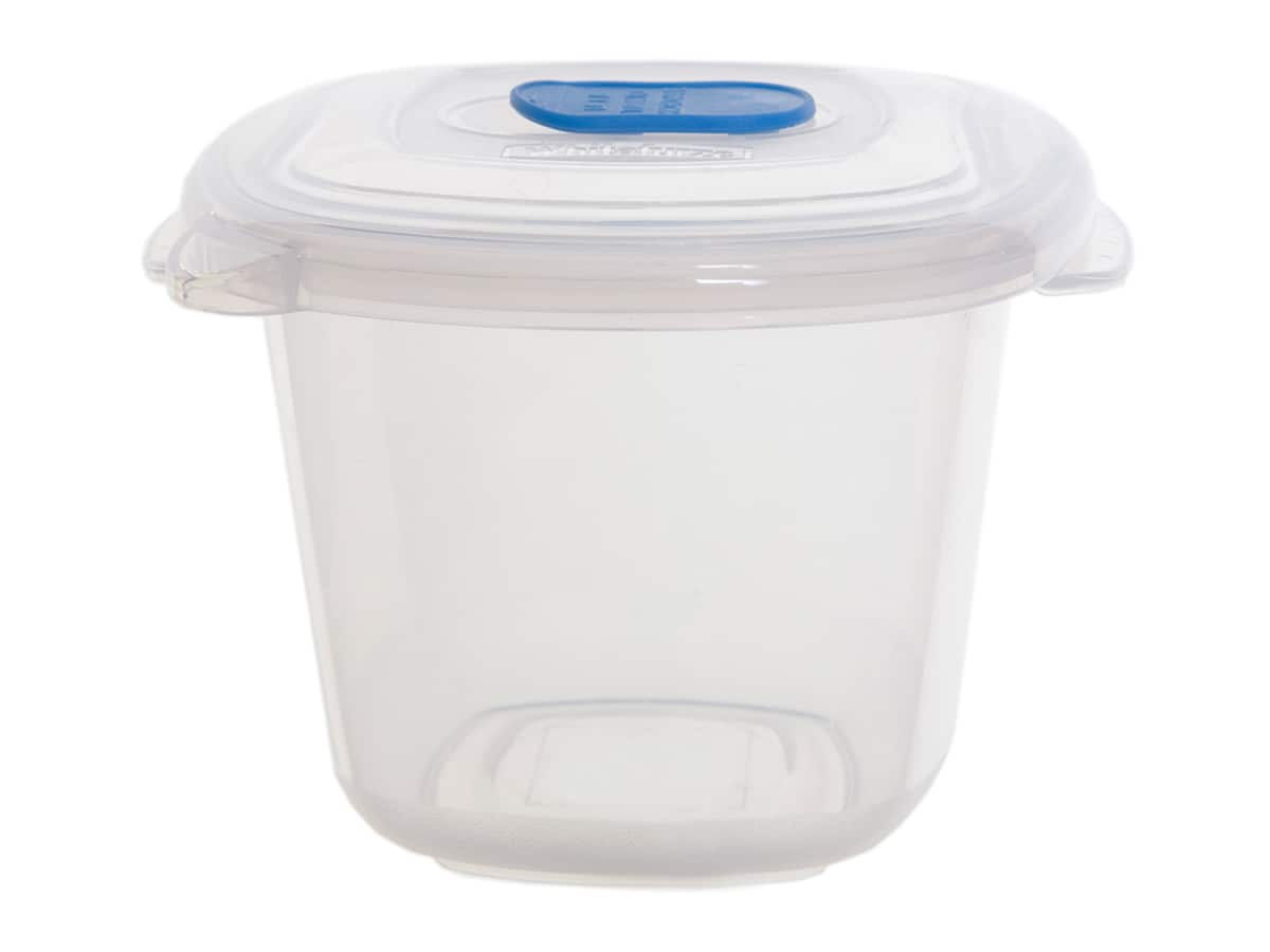 0.37Ltr Square Freezer 2 Microwave Plastic Food Storage Box