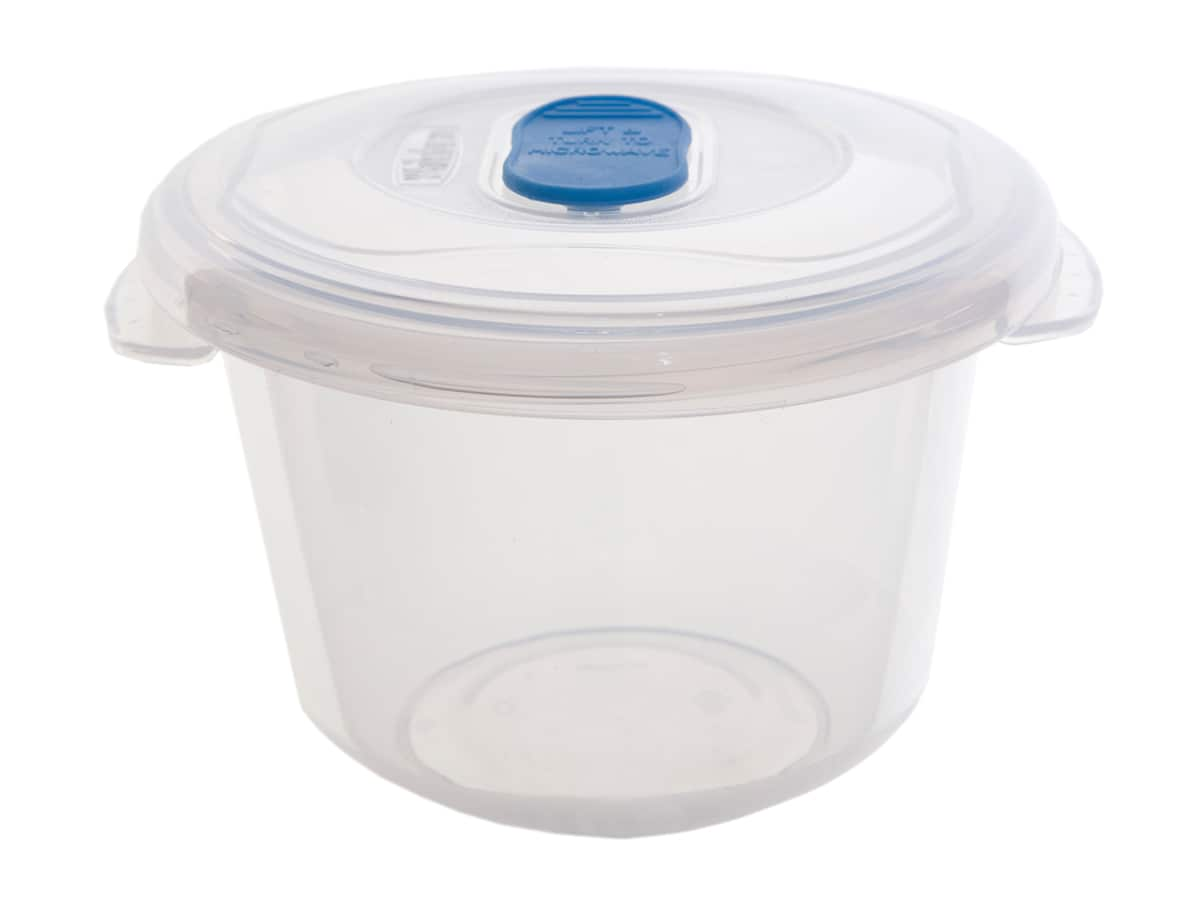 0.5Ltr Round Freezer 2 Microwave Plastic Food Storage Box