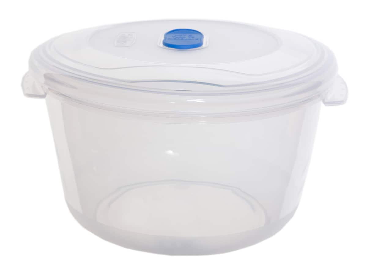 1.22Ltr Round Freezer 2 Microwave Plastic Food Storage