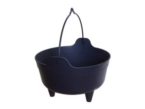 10″ Black Plastic Cauldron