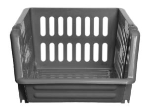 18cm Plastic Stacking Basket (x3)