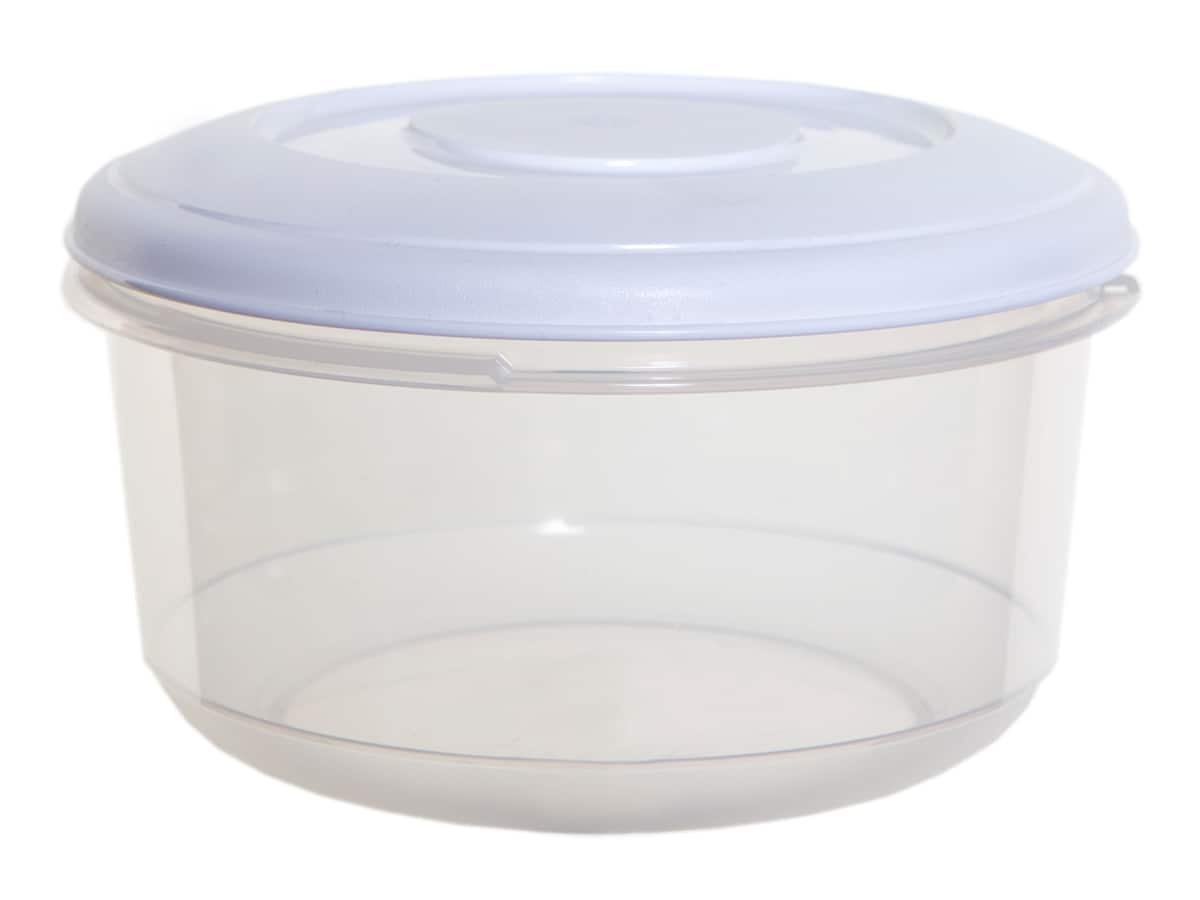 2Ltr Round Plastic Food Storage Container