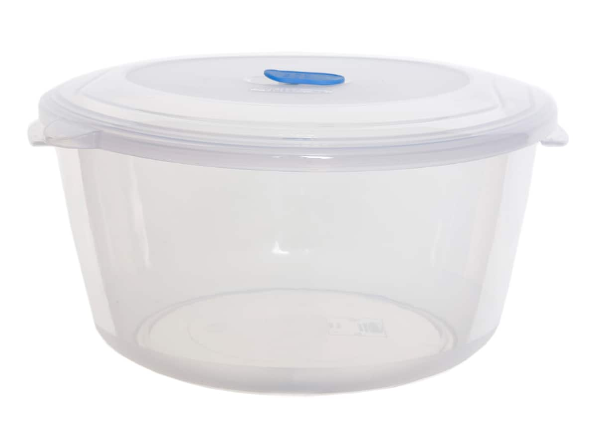 3.08Ltr Round Freezer 2 Microwave Plastic Food Storage Box