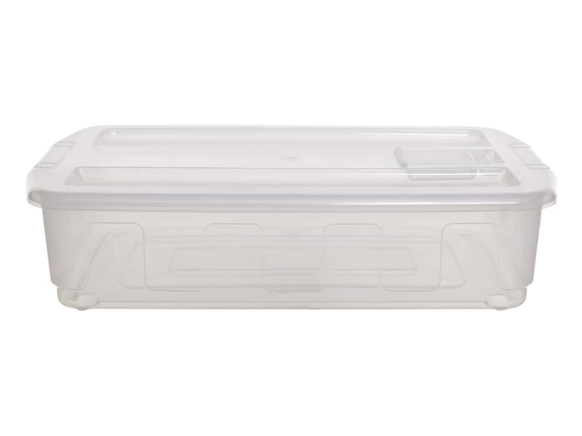 35ltr Under bed Plastic Storage  box on wheels
