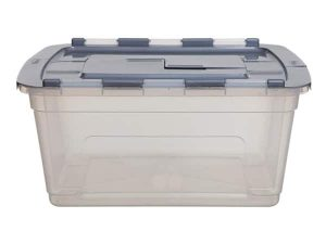 45Ltr Clear Tote Storage Box