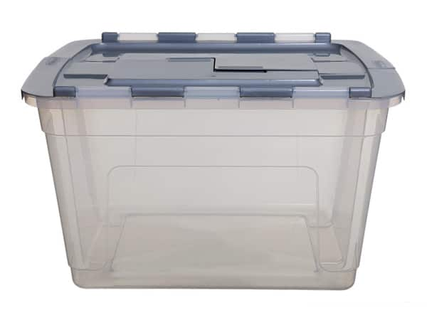 55Ltr Clear Tote Storage Box