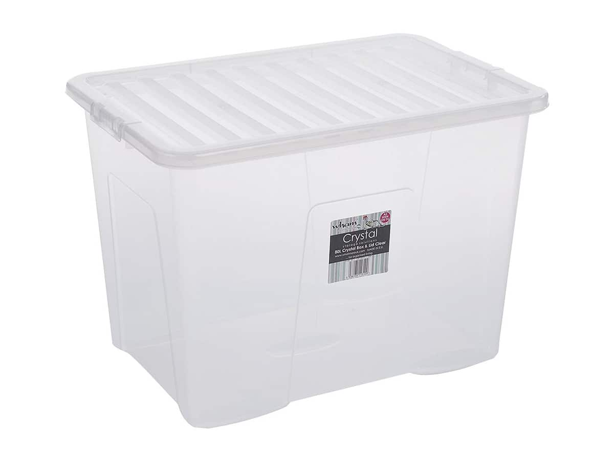 80Ltr Crystal Plastic Storage Box & Lid