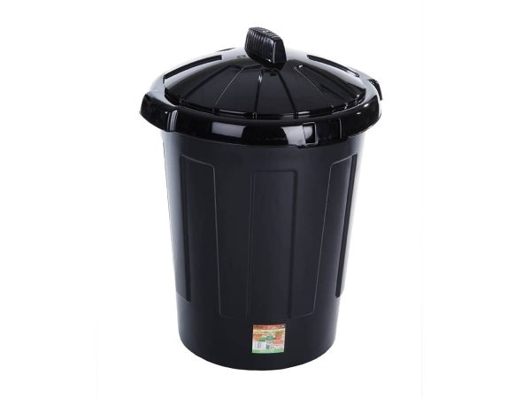 Large Plastic Dustbin with Snap On Lid