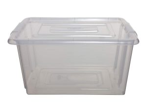 Whitefurze Large Plastic Storage Box & Lid – 100pcs Bulk Deal