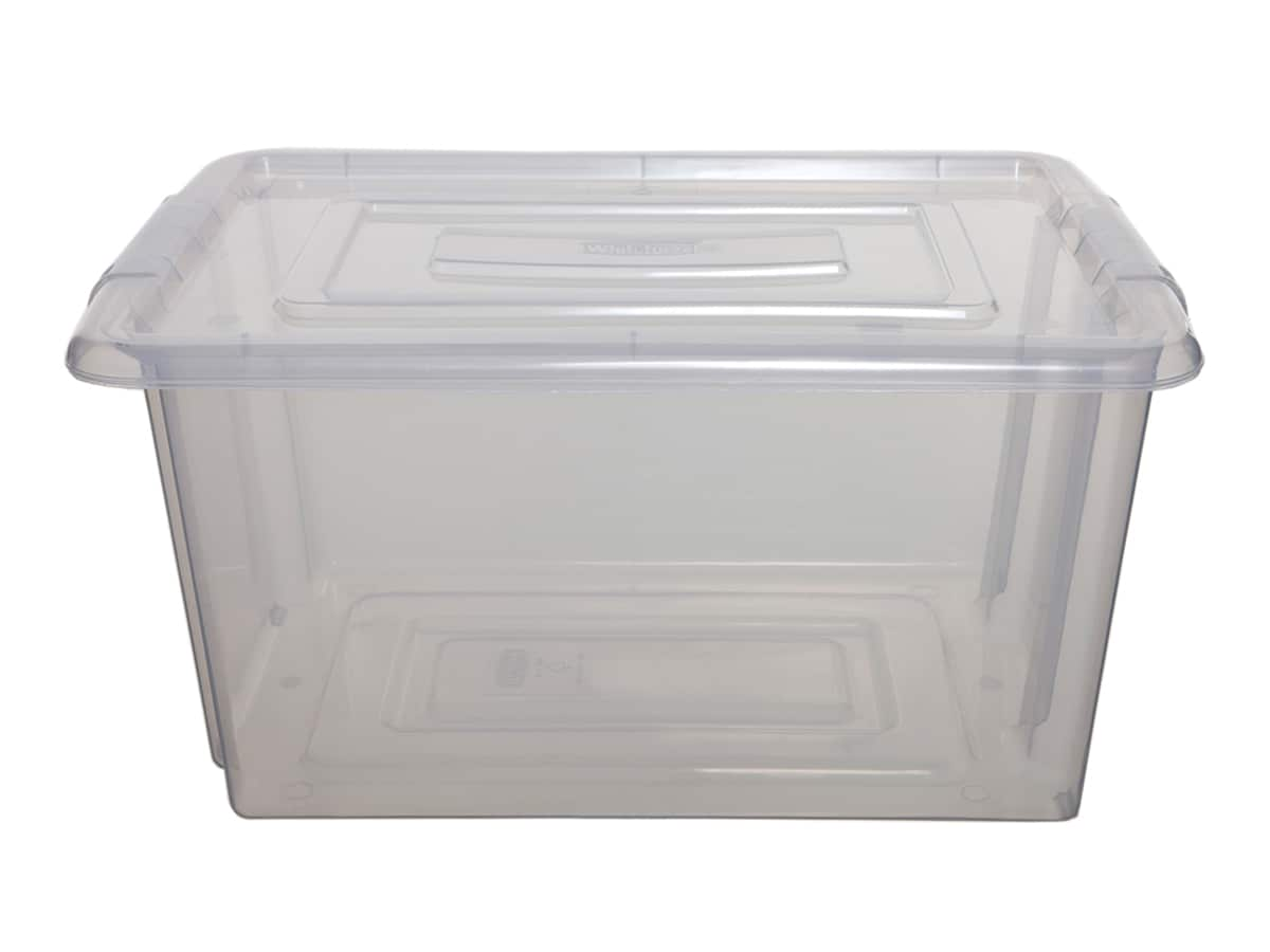 Medium Plastic Storage Box & Lid