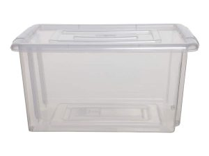 Whitefurze Small Plastic Storage Box & Lid – 200pcs Bulk Deal
