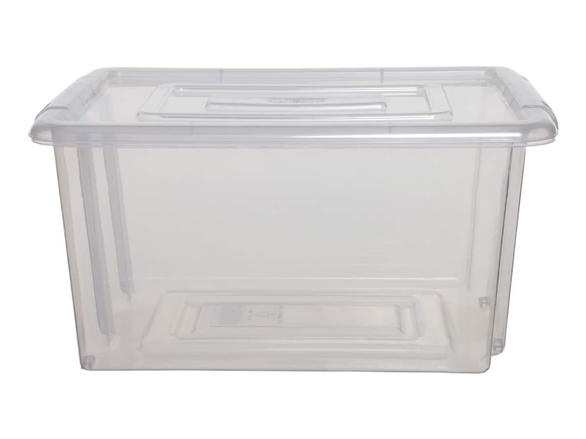 Whitefurze Small Plastic Storage Box & Lid – 200pcs Bulk Deal