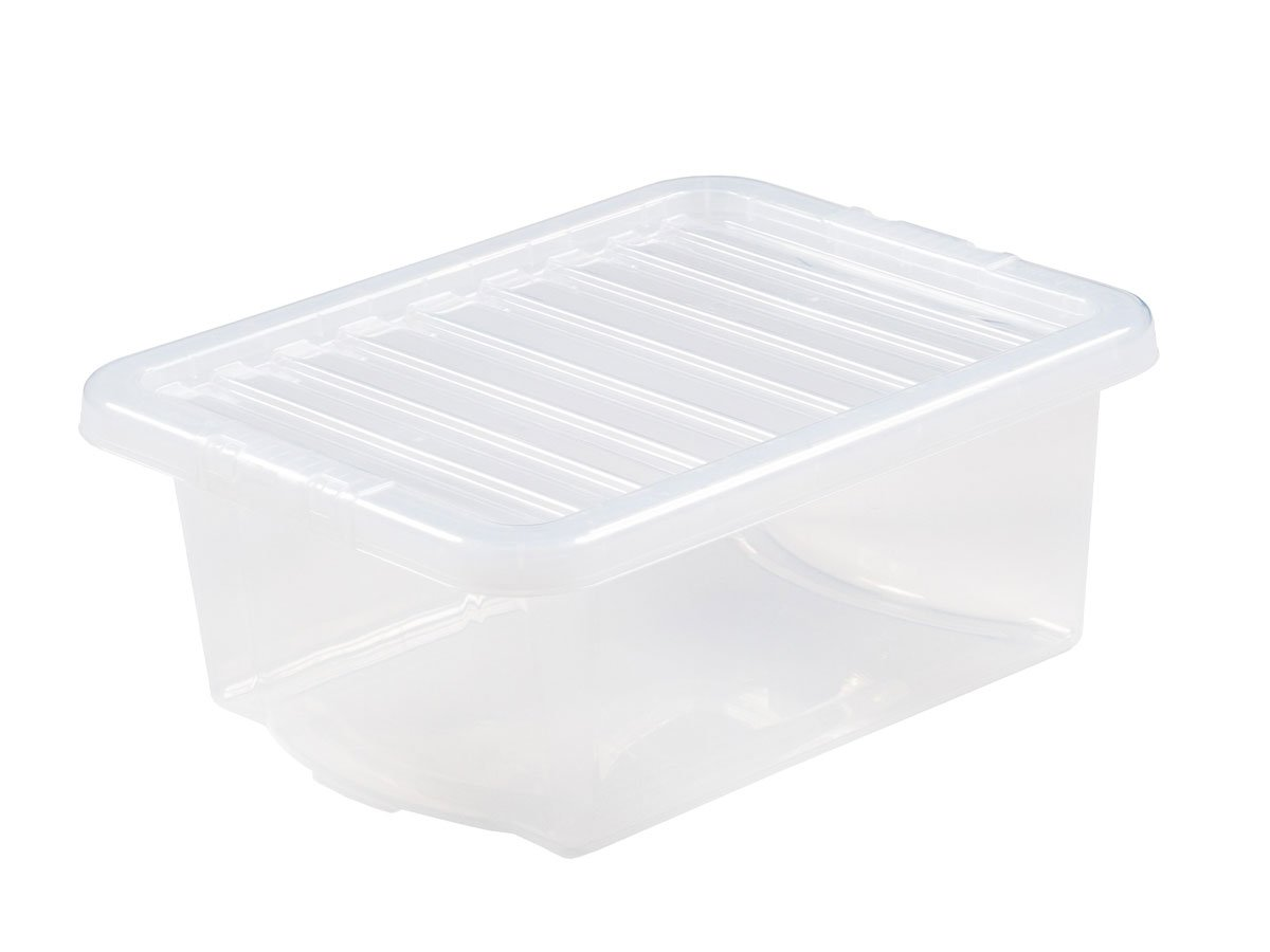 16Ltr Crystal Plastic Storage Box & Lid