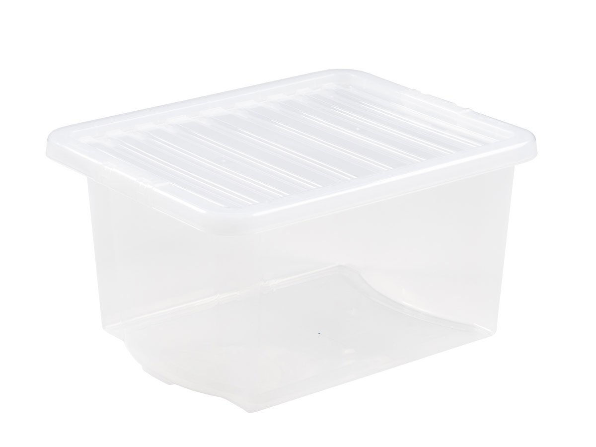35Ltr Crystal Plastic Storage Box & Lid