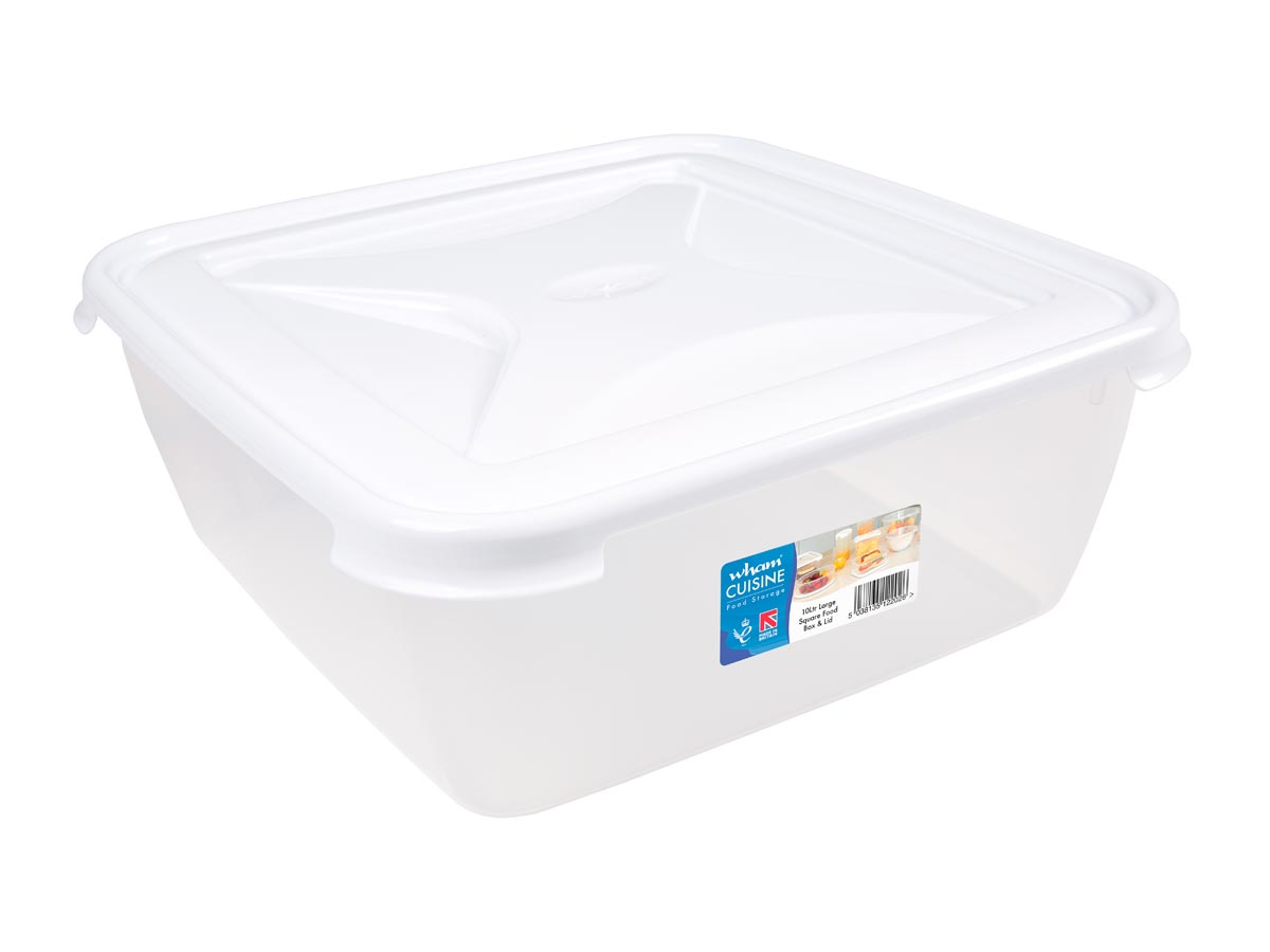 10Ltr Cuisine Square Plastic Food Storage Container