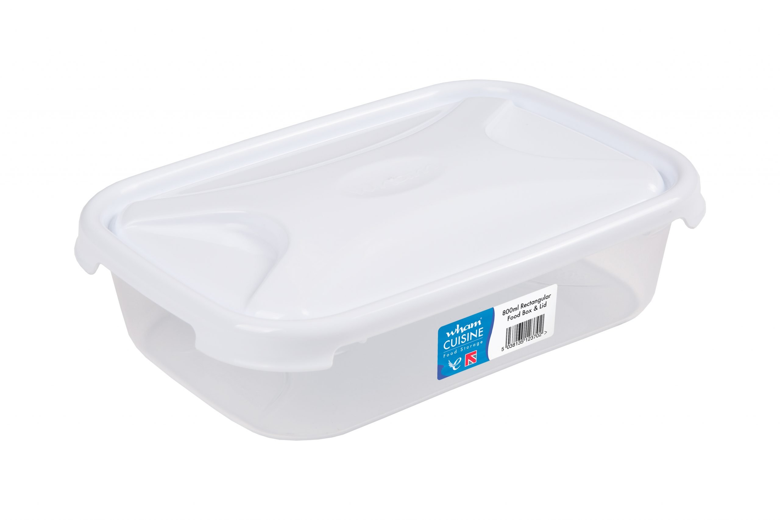 0.8Ltr Cuisine Rectangular Plastic Food Storage Container