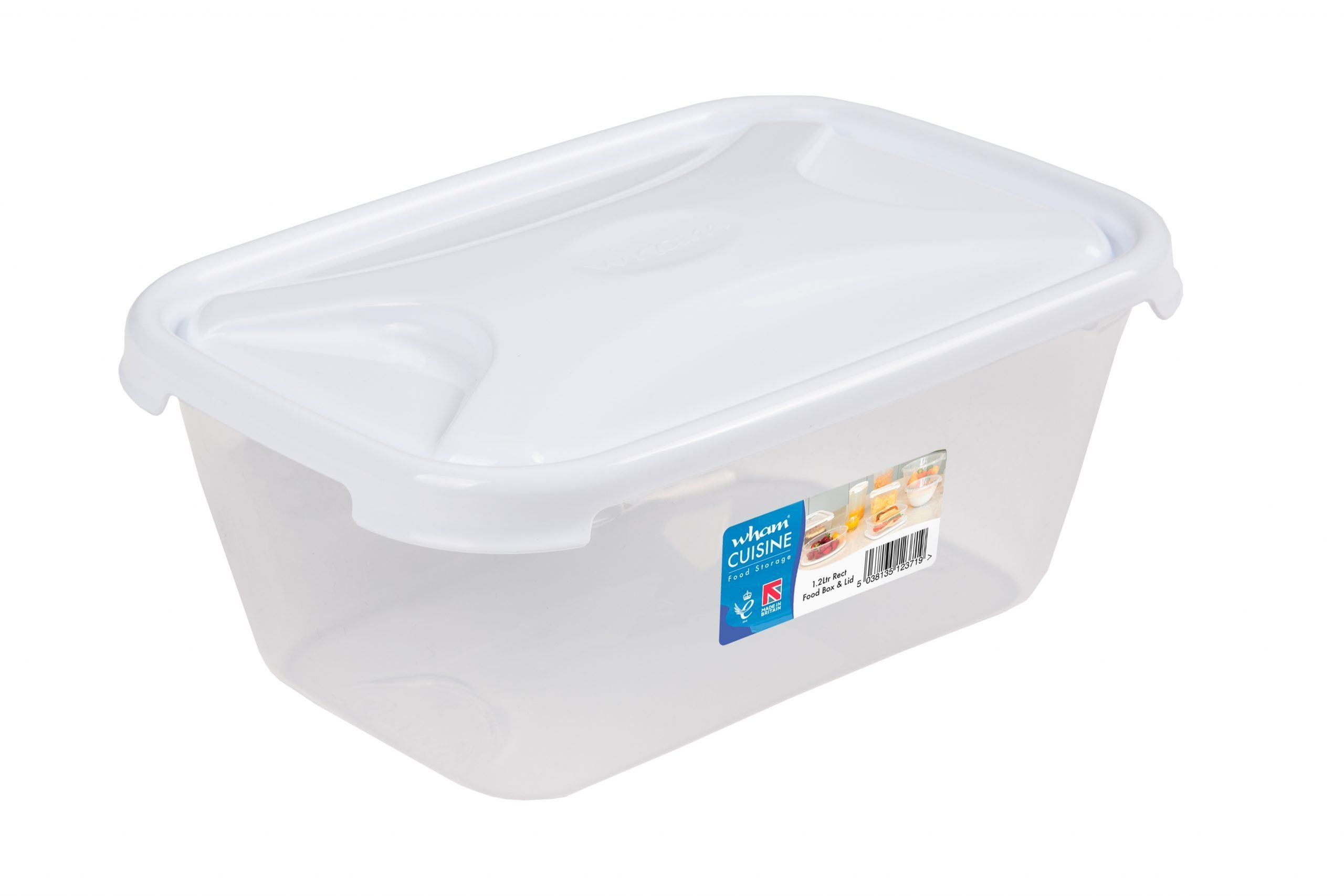 1.2Ltr Cuisine Rectangular Plastic Food Storage Container