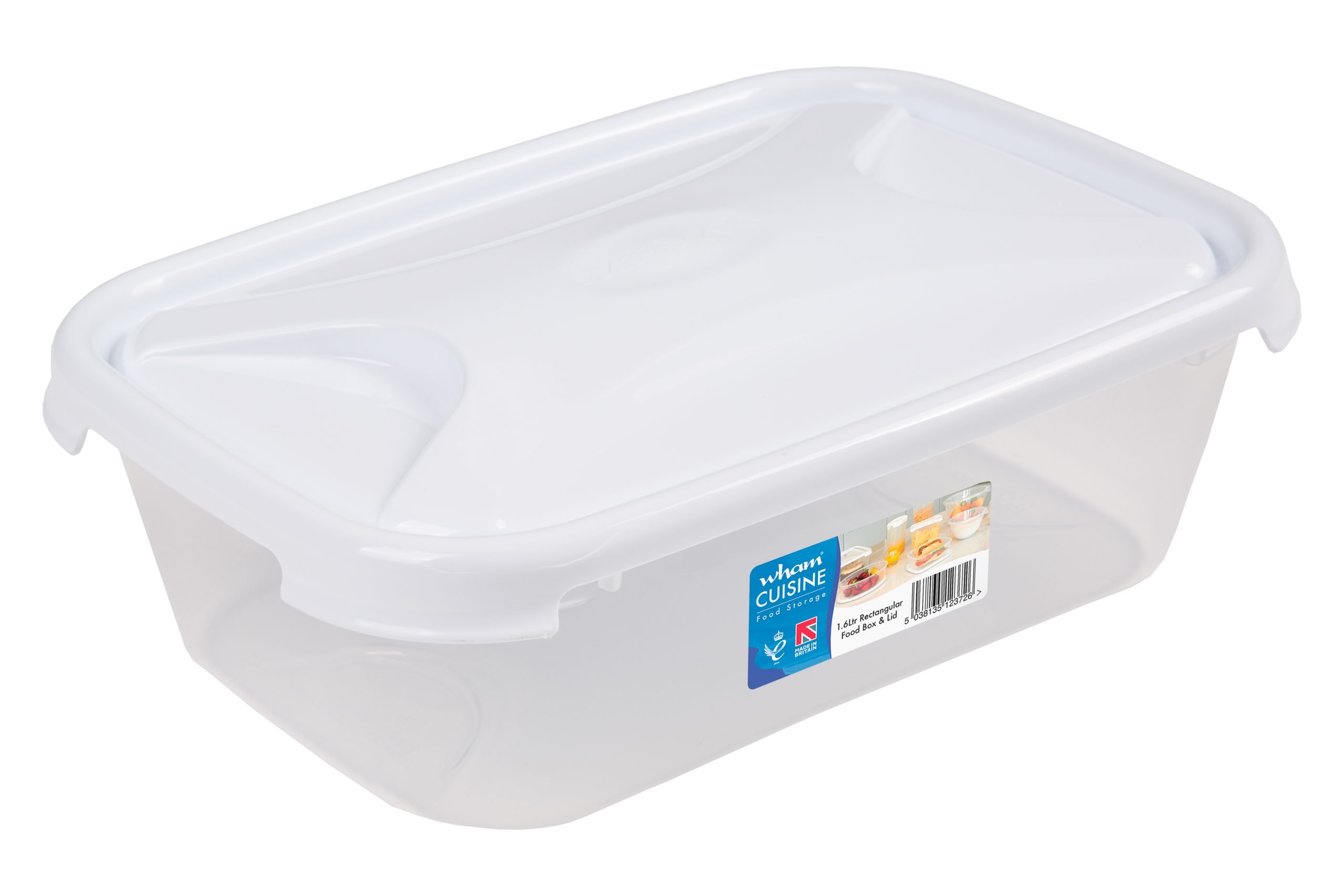 1.6Ltr Cuisine Rectangular Plastic Food Storage Container