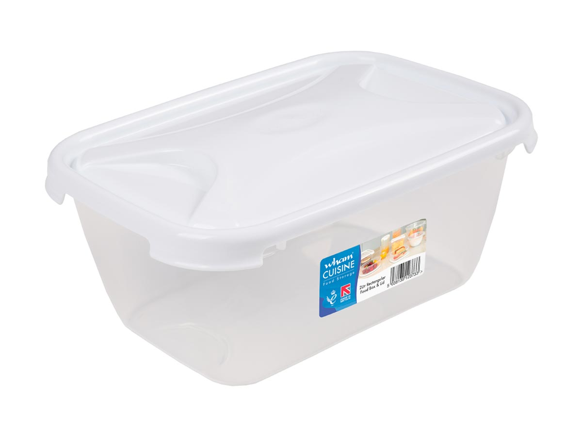 2Ltr Cuisine Rectangular Plastic Food Storage Container