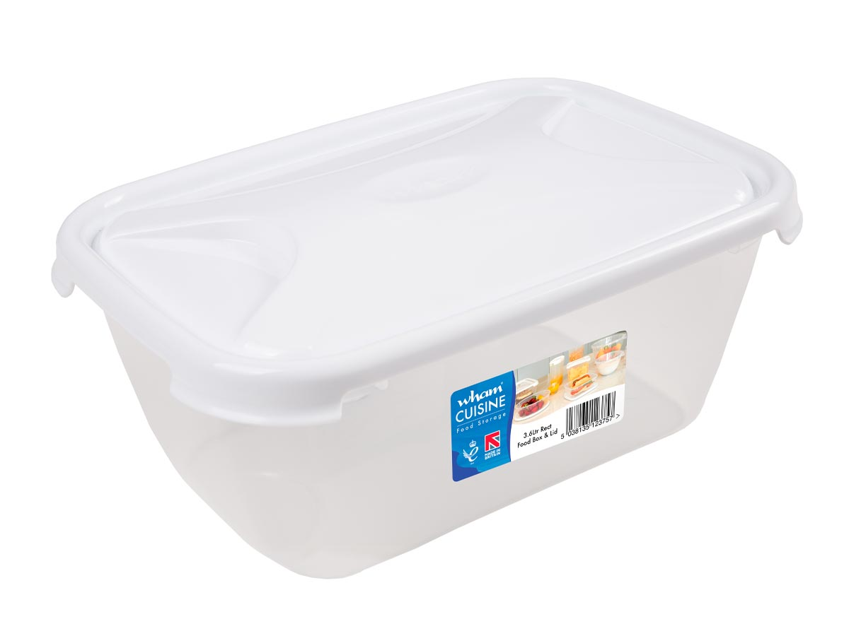 3.6Ltr Cuisine Rectangular Plastic Food Storage Container