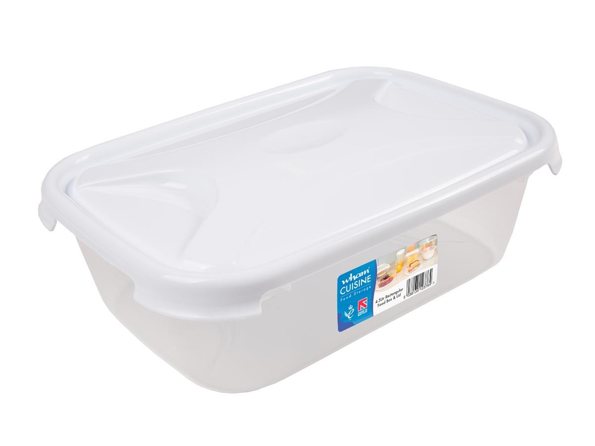 4.5Ltr Cuisine Rectangular Plastic Food Storage Container