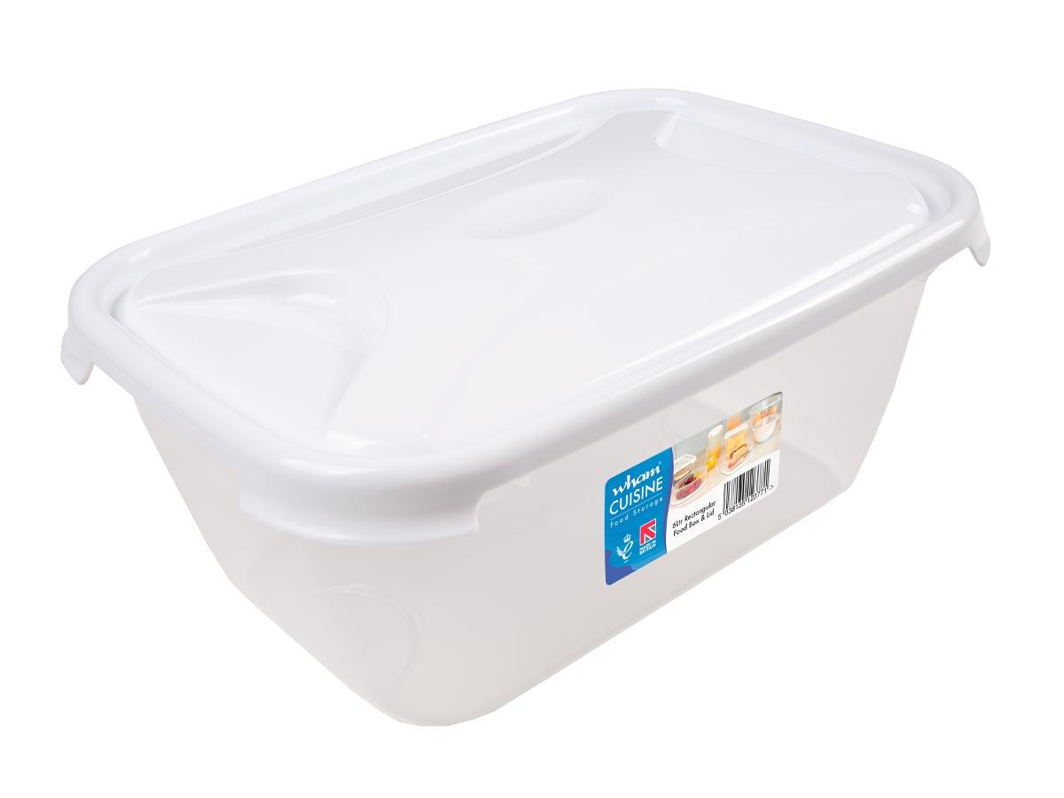 6Ltr Cuisine Rectangular Plastic Food Storage Container