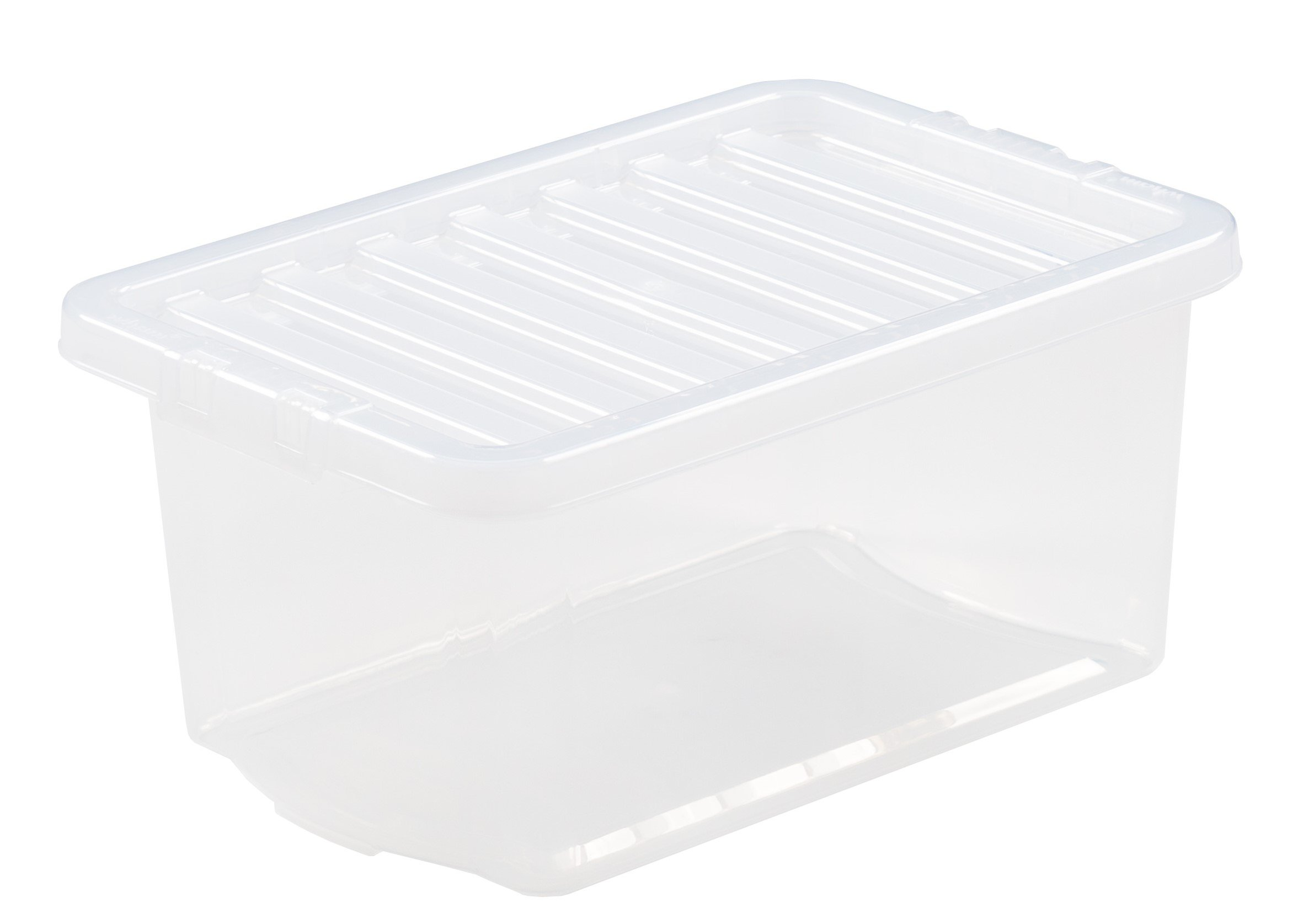 10Ltr Crystal Plastic Storage Box & Lid