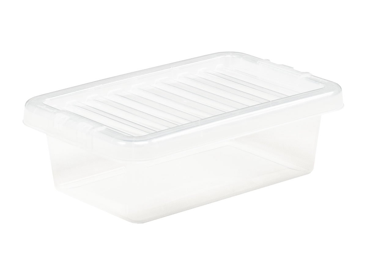 4Ltr Crystal Plastic Storage Box & Lid