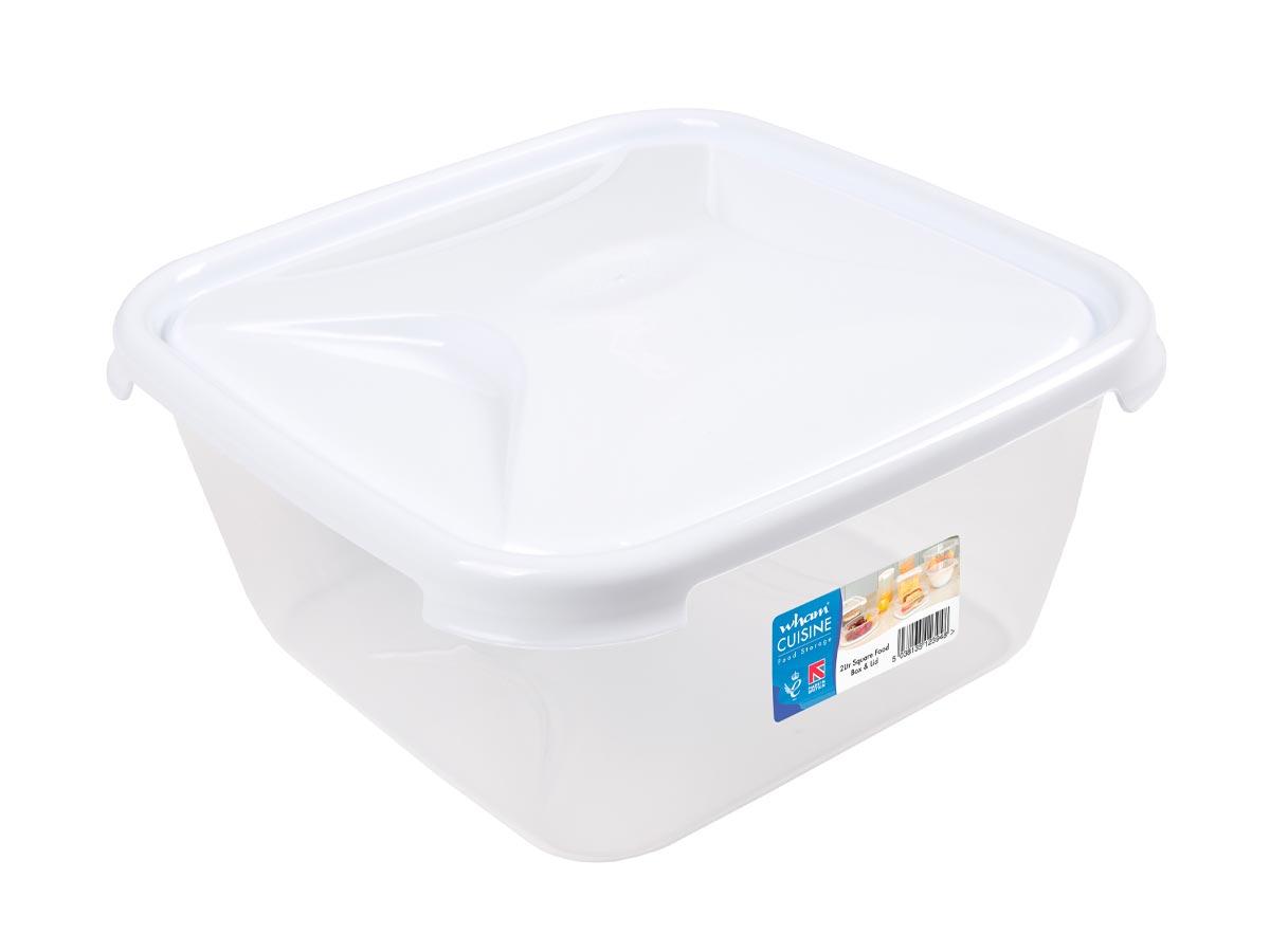 2Ltr Cuisine Square Plastic Food Storage Container