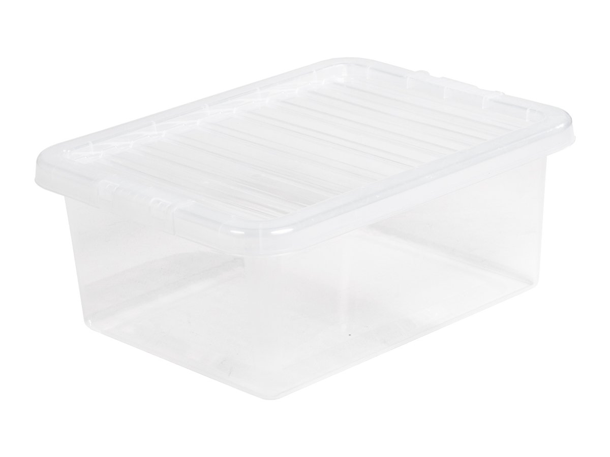 17Ltr Crystal Plastic Storage Box & Lid