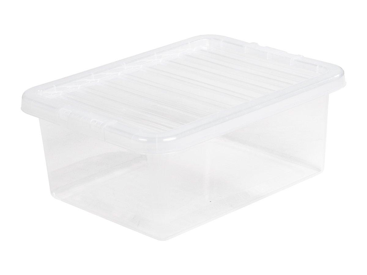 17Ltr Crystal Plastic Storage Box & Lid