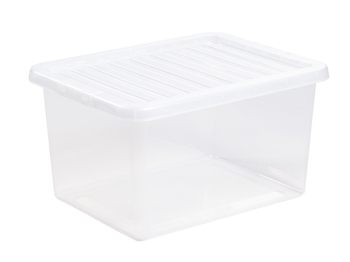 31Ltr Crystal Plastic Storage Box & Lid