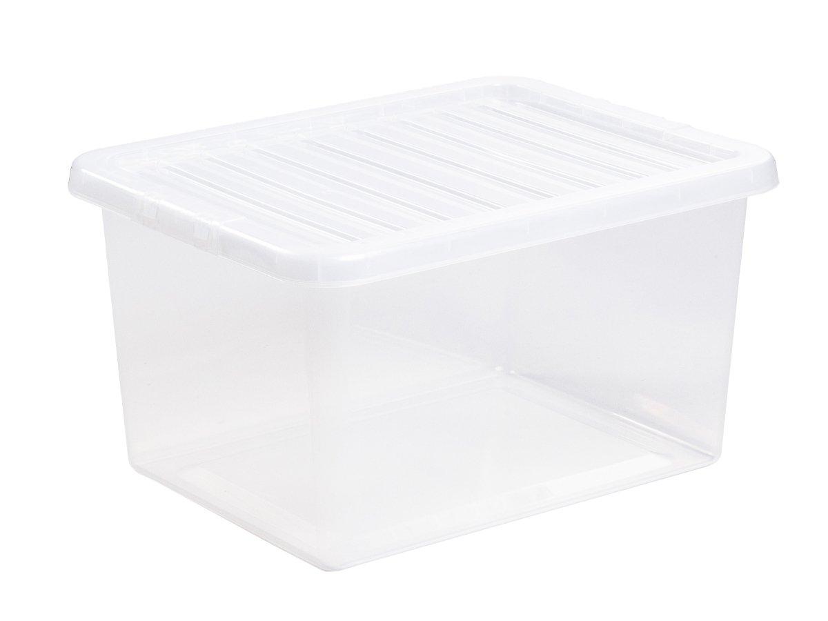 31Ltr Crystal Plastic Storage Box & Lid