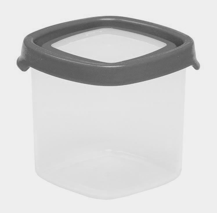 650ml Seal IT Square Plastic Food Storage Container – Graphite